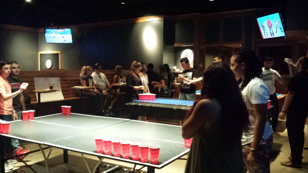 The picture attached is our Day of Smiles Water Pong Tournament.